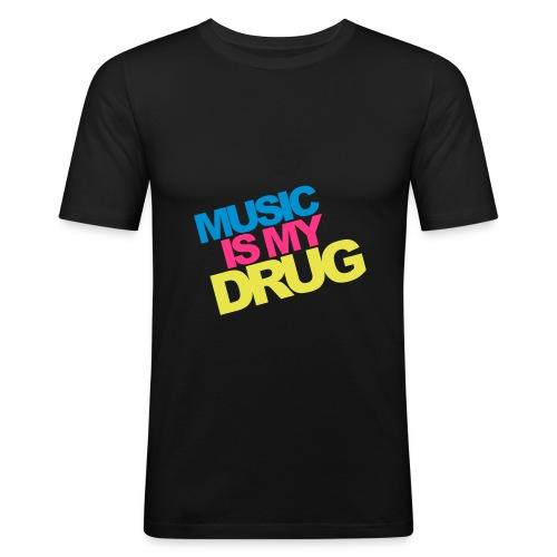 musicDrug - T-shirt près du corps Homme