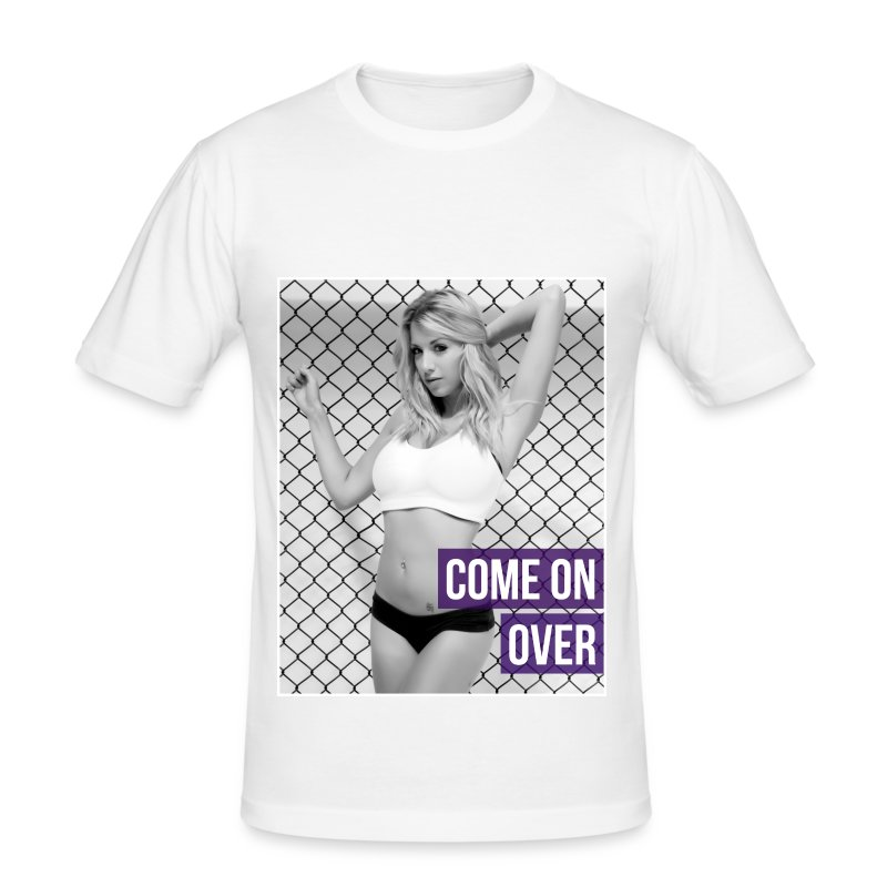Mens MMA Fashion Hipster Tshirt - 'Come on Over' - Men's Slim Fit T-Shirt