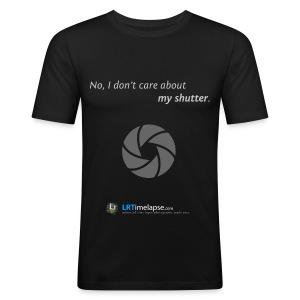 T-Shirt Don't Care about my Shutter - Diverse Farben - Männer Slim Fit T-Shirt