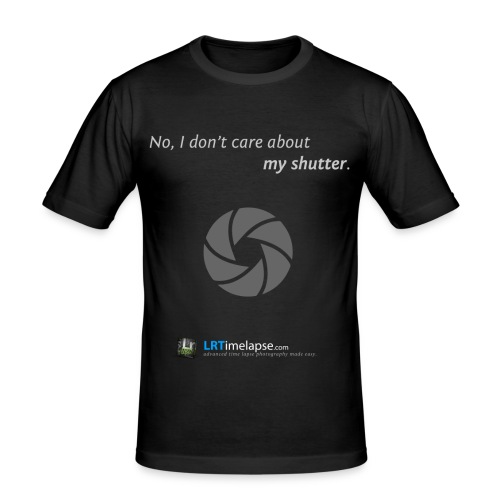 T-Shirt Don't Care about my Shutter - Diverse Farben - Männer Slim Fit T-Shirt