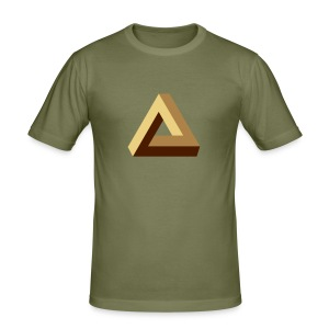 Impossible Triangle, optical illusion, Escher, tri Tee shirts - Tee shirt près du corps Homme