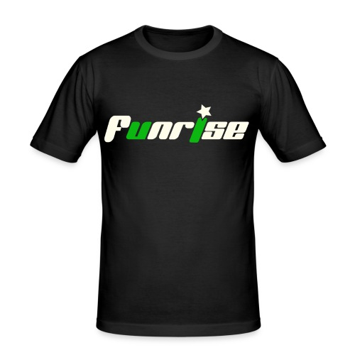 Fan-Shirt SLIM Man schwarz  - Druck vorne - Männer Slim Fit T-Shirt