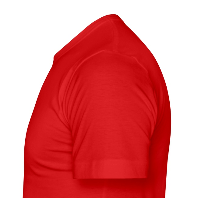 Fan-Shirt SLIM Man rot  - Druck vorne