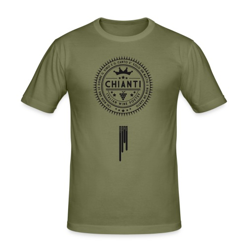Italian Wine Poetry - CHIANTI - Men's Slim Fit T-Shirt