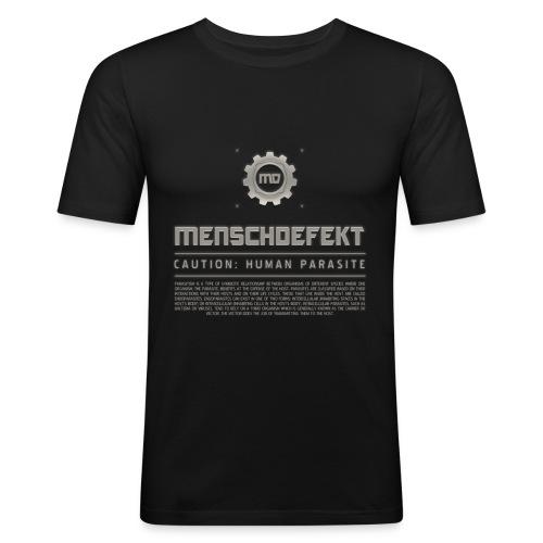 MENSCHDEFEKT PARASITISM Slim Fit T-Shirt - Männer Slim Fit T-Shirt