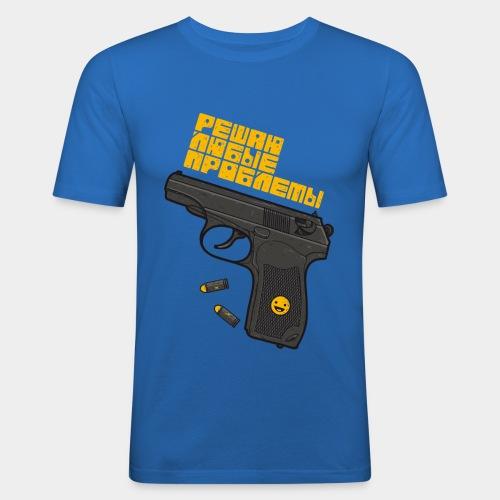 Решаю любые проблемы! - Männer Slim Fit T-Shirt