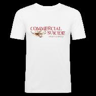 T-Shirts ~ Männer Slim Fit T-Shirt ~ T-Shirt slim-fit weiss