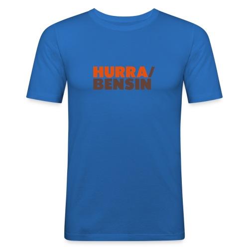 Hurra/Bensin, herre - Slim Fit T-skjorte for menn
