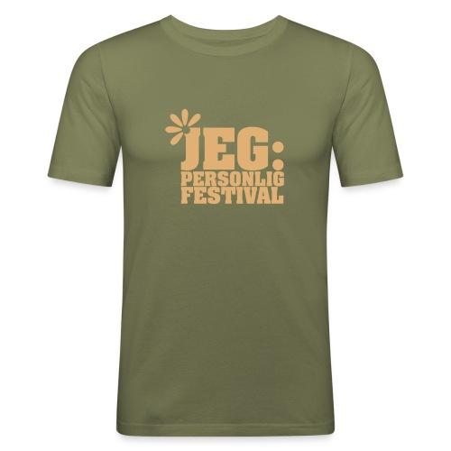 Jeg: Personlig festival, herre - Slim Fit T-skjorte for menn