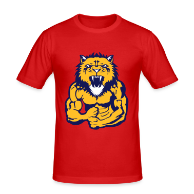 tee shirt lion corps bodybuilding musculation tee shirts. Black Bedroom Furniture Sets. Home Design Ideas