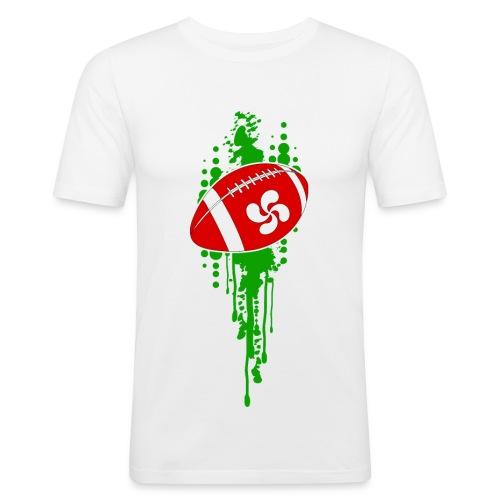 rugby sport basque - T-shirt près du corps Homme