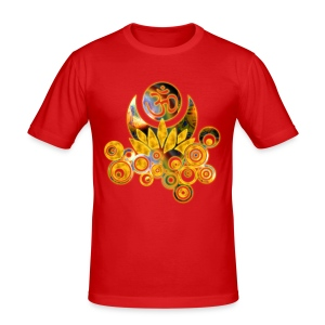 OM-Lotus - Männer Slim Fit T-Shirt - Männer Slim Fit T-Shirt