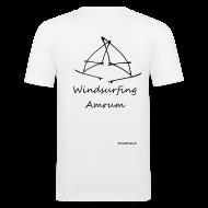 T-Shirts ~ Männer Slim Fit T-Shirt ~ Windsurfing, Amrum-shirt (hinten)