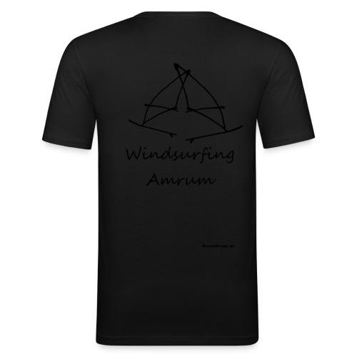 Windsurfing, Amrum-shirt (hinten) - Männer Slim Fit T-Shirt