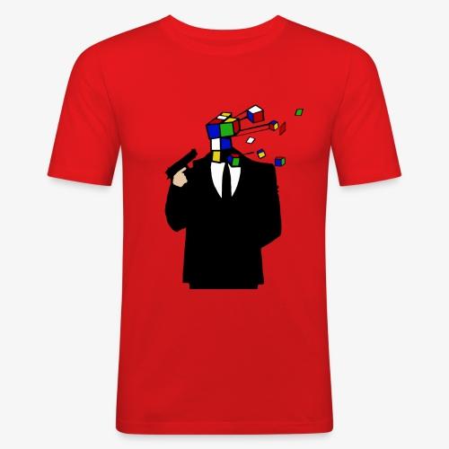 Headshot Rubiks Cube - Männer Slim Fit T-Shirt