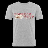 T-Shirts ~ Männer Slim Fit T-Shirt ~ T-Shirt slim-fit grau