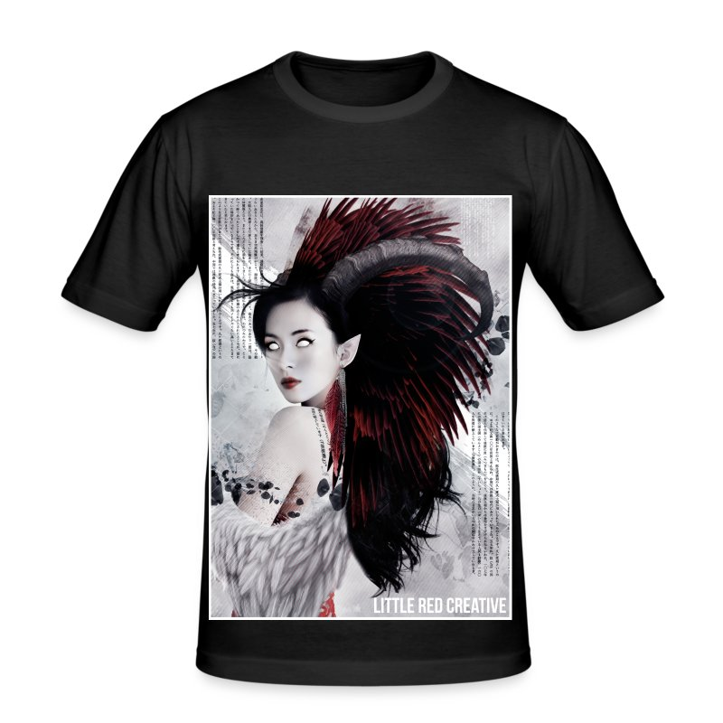 Feather Queen Mens Tshirt - Men's Slim Fit T-Shirt