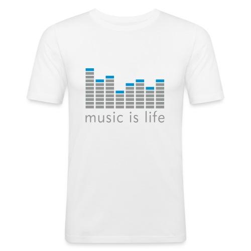 Music is life - T-Shirt - Männer Slim Fit T-Shirt