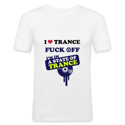 I Love Trance  - T-shirt près du corps Homme