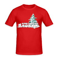 T-Shirts ~ Men's Slim Fit T-Shirt ~ Merry Christmas Bawbags