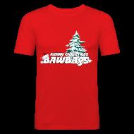 T-Shirts ~ Men's Slim Fit T-Shirt ~ Merry Christmas Bawbags