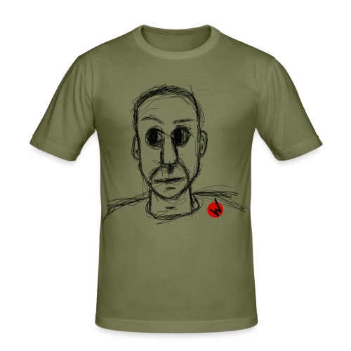 inquiétude brouillone - T-shirt près du corps Homme