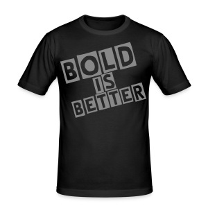 Bold Is Better (Signature) - Silver Sparkly (Men's) - Men's Slim Fit T-Shirt