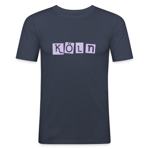 Shirt Köln dunkelblau 3 - Männer Slim Fit T-Shirt