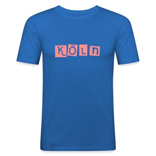 Shirt Köln blau - Männer Slim Fit T-Shirt