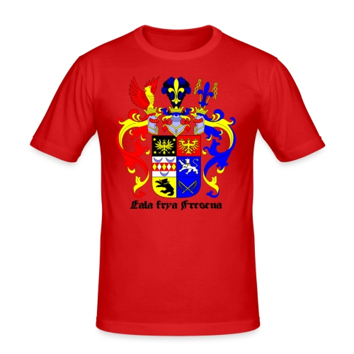 Männer Slim Fit T-Shirt - Emden Aurich Leer Norden Esens Wittmund Ostfriesland Norddeutschland deutschland Wappen symbol