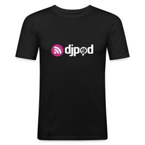 T-Shirt noir près du corps - Tee shirt près du corps Homme