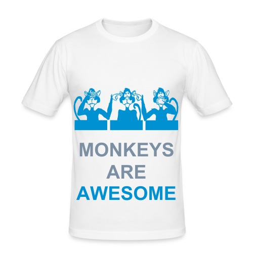 Monkeys are awesome Tee - Men's Slim Fit T-Shirt