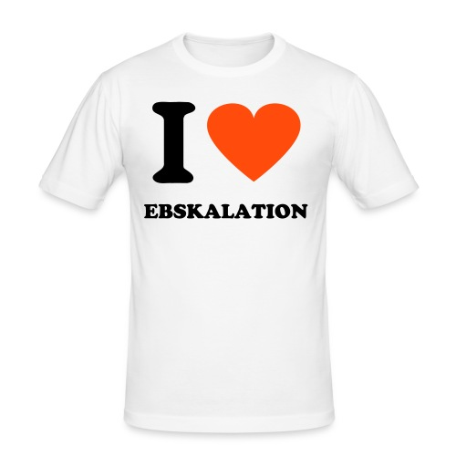 Men I Love EBSkalation - Männer Slim Fit T-Shirt