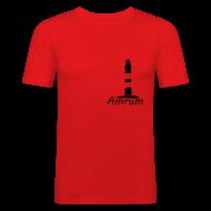 T-Shirts ~ Männer Slim Fit T-Shirt ~ Amrumer Leuchtturm