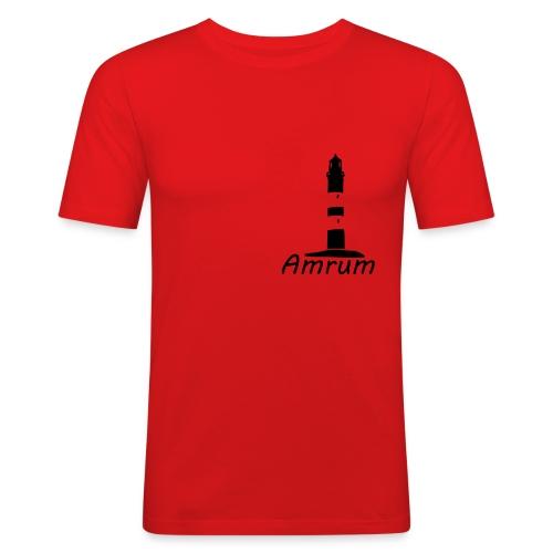 Amrumer Leuchtturm - Männer Slim Fit T-Shirt