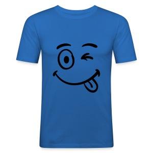 SMILEY FACED MENS T-SHIRT - Men's Slim Fit T-Shirt
