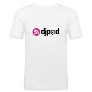T-Shirt blanc près du corps - Tee shirt près du corps Homme