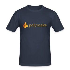 polymake men's slim fit shirt (orange) - Men's Slim Fit T-Shirt