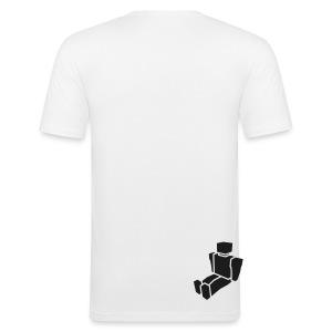 In The Beginning - Men's Slim Fit White T-Shirt - Men's Slim Fit T-Shirt