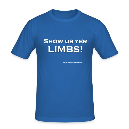 Show us yer limbs! - Blue Men - Men's Slim Fit T-Shirt