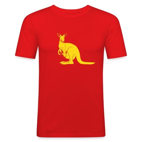 tier t-shirt känguru kangaroo roo australien aussie australia beuteltier - Männer Slim Fit T-Shirt