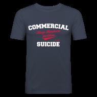 T-Shirts ~ Männer Slim Fit T-Shirt ~ Positive Shirt Navy