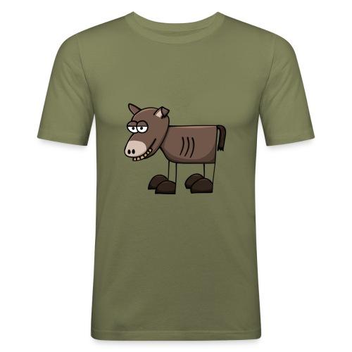 Esel-Slim-Shirt für Ihn - Männer Slim Fit T-Shirt