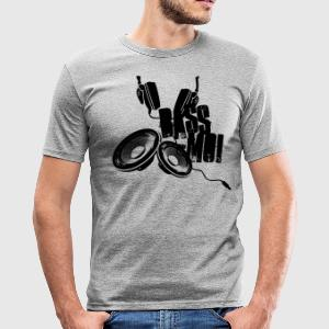 bass-moi baise-moi bass lautsprecher speaker soundsystem T-Shirts - Männer Slim Fit T-Shirt