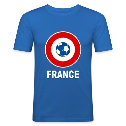 football, cocarde tricolore, couleurs France - Men's Slim Fit T-Shirt