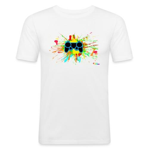 Graffiti Controller Splatter - Men's Slim Fit T-Shirt