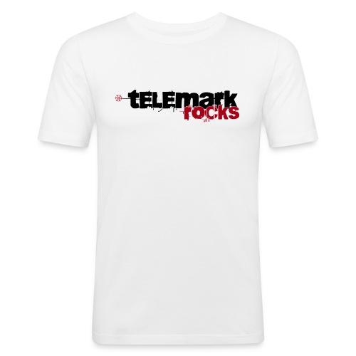 T-Shirt telemark rocks ROT im Slimfit-Style - Männer Slim Fit T-Shirt