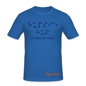 Hupsie Hup in Braille (voelen mag) - slim fit T-shirt