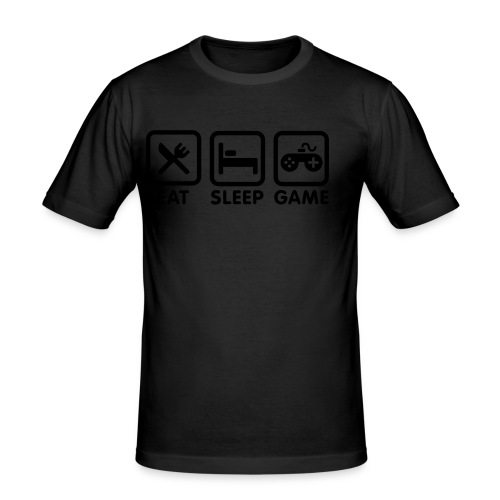 gamer geek t-shirt/ mens - Men's Slim Fit T-Shirt