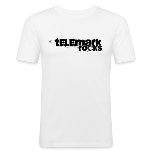 T-Shirt telemark rocks SCHWARZ im Slimfit-Style - Männer Slim Fit T-Shirt